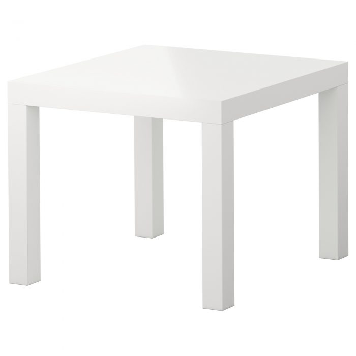Стол журнальный (белый/черный)